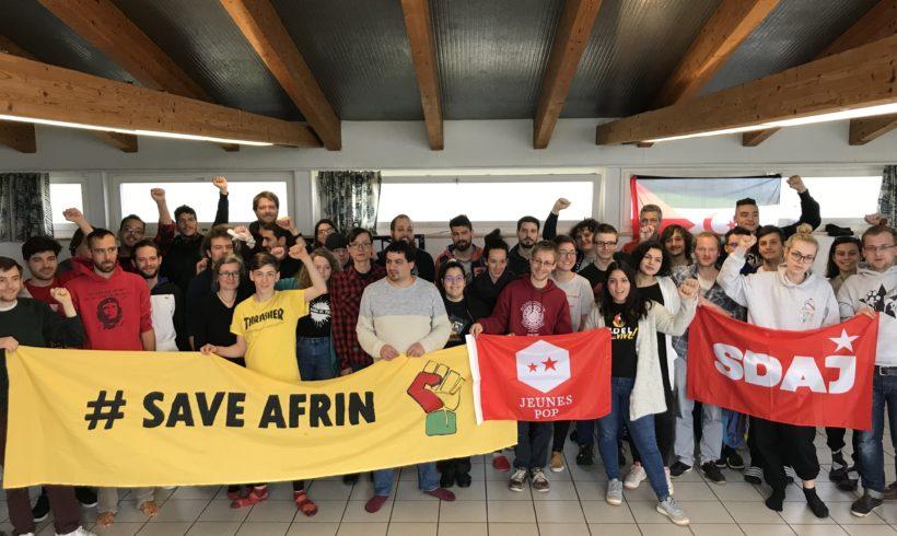 Les Jeunes POP témoignent toute leur solidarité avec le Rojava et le peuple Kurde en lutte.