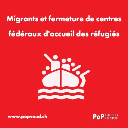 Migrants et fermetures de centres fédéraux d'accueil des réfugiés